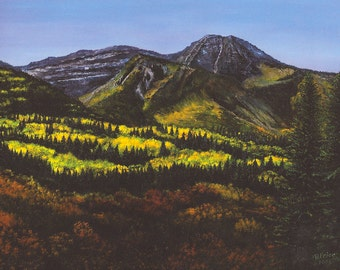 Autumn Landscape Wasatch Mountains, Giclee of Original Oil Painting