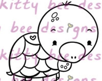 Honu (Turtle) Love  Digital Stamp
