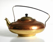 Vintage Copper and Brass Tea Kettle