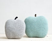 Apple shaped cushion - small size color grey