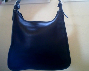 Authentic Black Leather Coach Medium Shoulder Bag JOD-9073