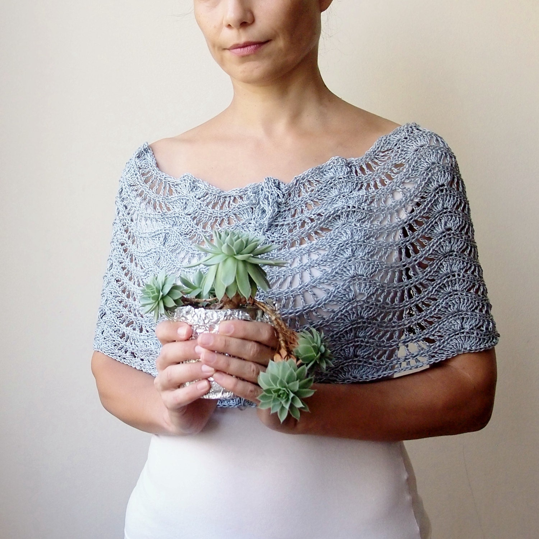 Bolero Scarf Shawl Neckwarmer Crochet Pattern : Crochet pattern scarf lacy caplet shrug shawl bride wedding