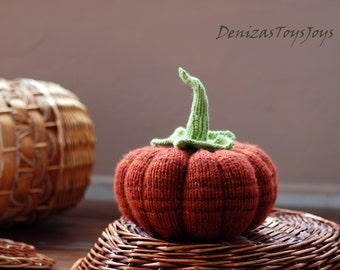 Big Pumpkin. PDF knitting pattern (knitted in the round). Autumn pattern. Halloween decoration. Halloween pattern. Country home