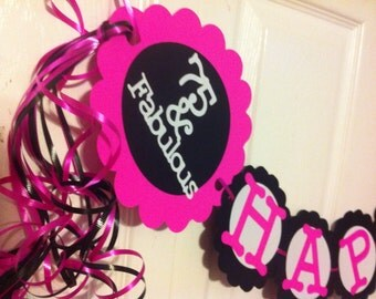 Popular items for 75th birthday ideas on etsy for 75th birthday decoration