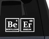 Beer Periodic Table Elements Vinyl Decal - Choose your color