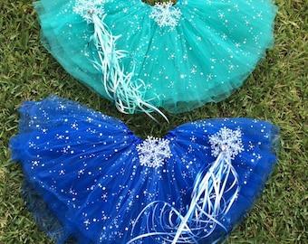 Frozen Anna Tutu, Blue Frozen Tutu, Frozen Party Favor Tutu, Anna Blue Tutu, Elsa Tutu, Disney Frozen Party Favors, Blue Sparkle Tutu