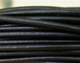 1 Yard or More - 4mm Black Greek Leather - Genuine Greek Leather - Made in Greece - Imported - Wholesale Leather by the Yard