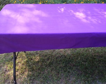 """SALE!! SALE!! 44"""" X 90"""" Rectangler Purple Table Cloth Only"""