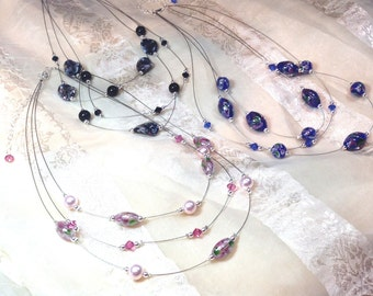 Art Glass Necklaces Choose From 3 Colors Handmade Jewelry