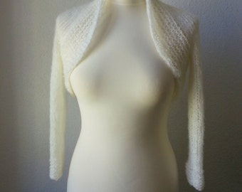 "Bolero,Shrug,Wedding "" Creme / Ivorey """