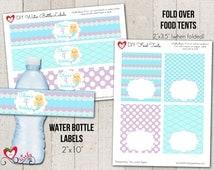 Mermaid Printable Party Package - Customized, Mermaid DIY Printable Set