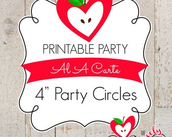 PRINTABLE A LA CARTE---4 inch Party Circles