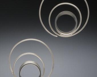 Endless Loop, Sterling Silver Earrings