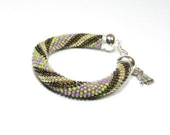 Seed Bead Bracelets. Beaded Bracelet. Bead Crochet Bracelet. Rope Bracelet. Minimalist jewelry.