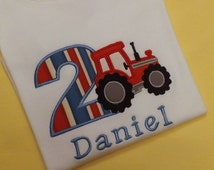 Tractor Birthday T-Shirt or Bodysuit