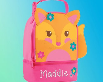Lunchbox - Personalized and Embroidered - 2 Insulated Compartments - Lunch Pal - FOX