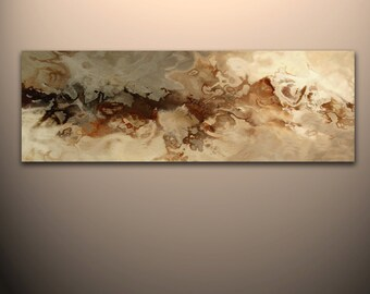 """60"""" x 20"""" Abstract canvas wall art giclee print  Large fully stretched and ready to hang by Robert Hawk"""