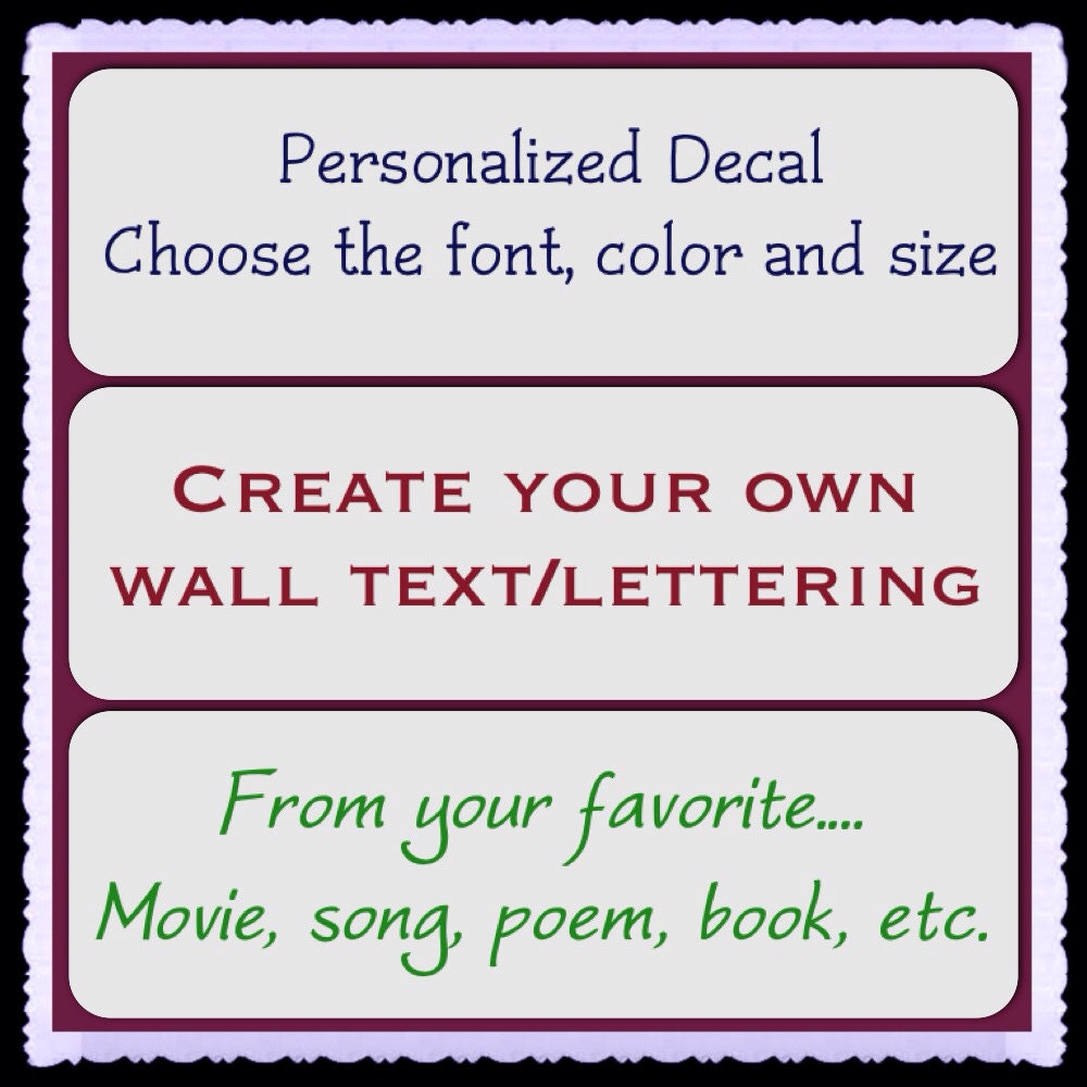 Create Your Own Vinyl Wall Decal Turn Your by DecalsEnFolie