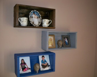 Crate Shelving,Wood Crate Shelving,Crate shelf's Wall Decor Shelf's,Wall Shelf For Pictures,  Storage Crate, Wood Crate Centerpiece,
