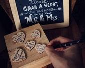 Mason Jar: Size 4 Wedding Guest Book alternative drop hearts guest book