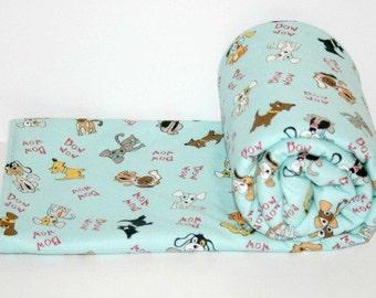 Personalized Baby Boy Blanket, Toddler Comforter, Puppy Blanket, Pram Blanket, Snuggle Blanket, Baby Comforter, Car Seat Blanket
