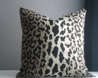 16x16 inch  - 24x 24inch  Leopard print pillow cover,Reversible pillow cover with same fabric on both sides  - Pick your pillow size