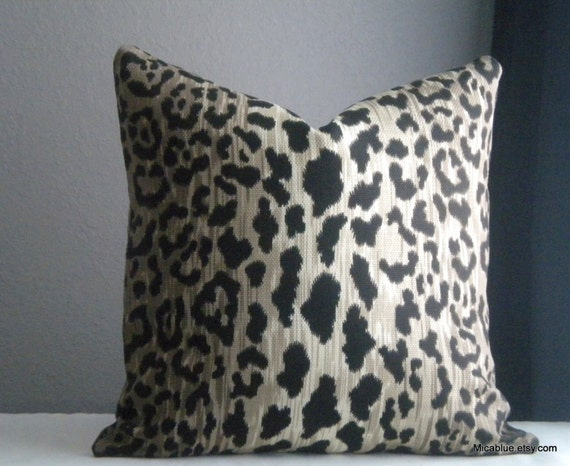 Animal Print Pillow Covers : Animal print throw pillow cover Fabric both sides All by MicaBlue