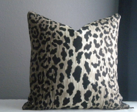 Animal Print Throw Pillow Covers : Animal print throw pillow cover Fabric both sides All by MicaBlue