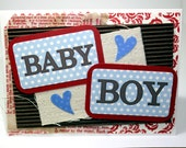 Baby Boy Greeting Card, Baby Card, Newborn Card, Blank Inside for your message