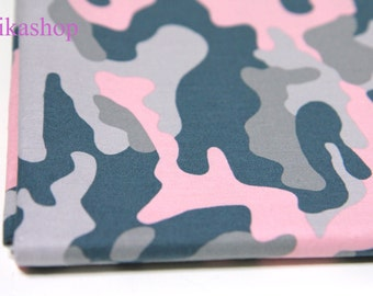 Yard - Military Camouflage Lady 100% Cotton by Gage - Fikashop