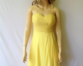 Yellow Bridesmaid Dress.Evening Dress
