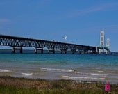 The Mackinac Bridge (FREE shipping in the U.S.only)--ccustomized ard, print or canvas