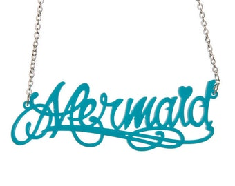Mermaid necklace - laser cut acrylic