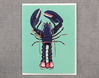 Blue Lobster Note Card