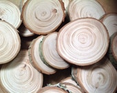 Reserved for Kim 30 Hemlock branch Wood slices for crafts table confetti vase filler weddings