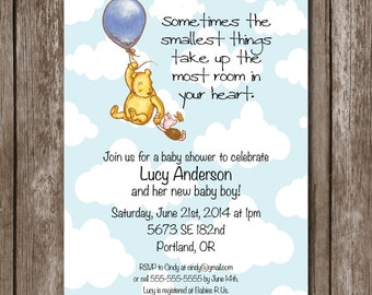 Winnie-the-Pooh Baby Shower Invitation/Digital File