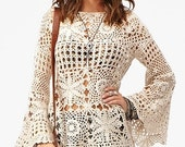 MADE TO ORDER spring / summer women crochet blouse