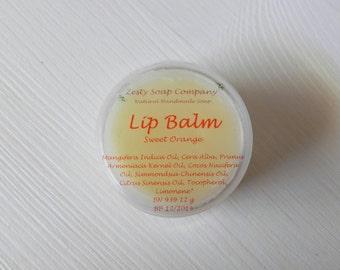 SALE 25% OFF - Natural Lip Balm - Sweet Orange