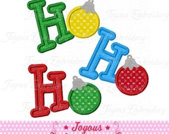 Instant Download Christmas Ho Ho Ho  Applique Machine Embroidery Design NO:1413