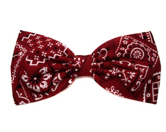 Red Classic Bandana Hair Bow