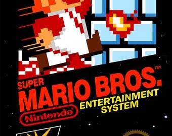 """Super Mario Bros NES 18 x 24"""" Video Game Poster"""