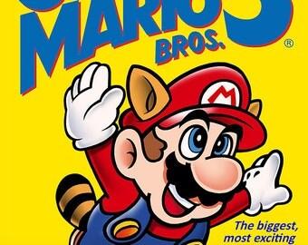 """Super Mario Bros 3 NES 18 x 24"""" Video Game Poster"""