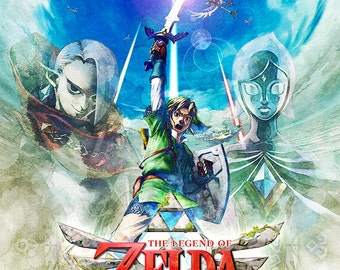 Legend of Zelda Skyward Sword, Multiple Sizes Available, Video Game Poster