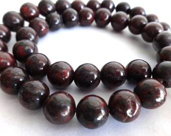 8 mm Poppy Jasper Gemstone Beads