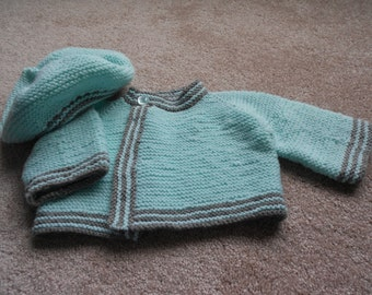 Baby Sweater and Beret