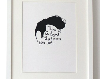 Morrissey The Smiths A4 Illustration Print There is a light that never goes out