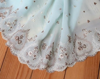 Lace Trim 18cm chiffon embroidery tulle Lace Trim 1 yard,  Lace Trim item no , net Lace Trim, ys681