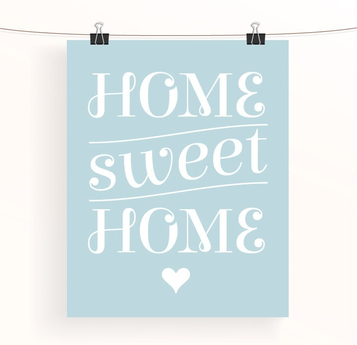 Home sweet home typography poster home decor wall art Home sweet home wall decor