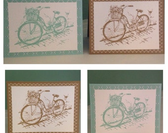 Set of 4 Bicycle Note cards