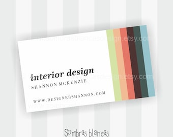 Premade Business Card Design - Interior Stripes